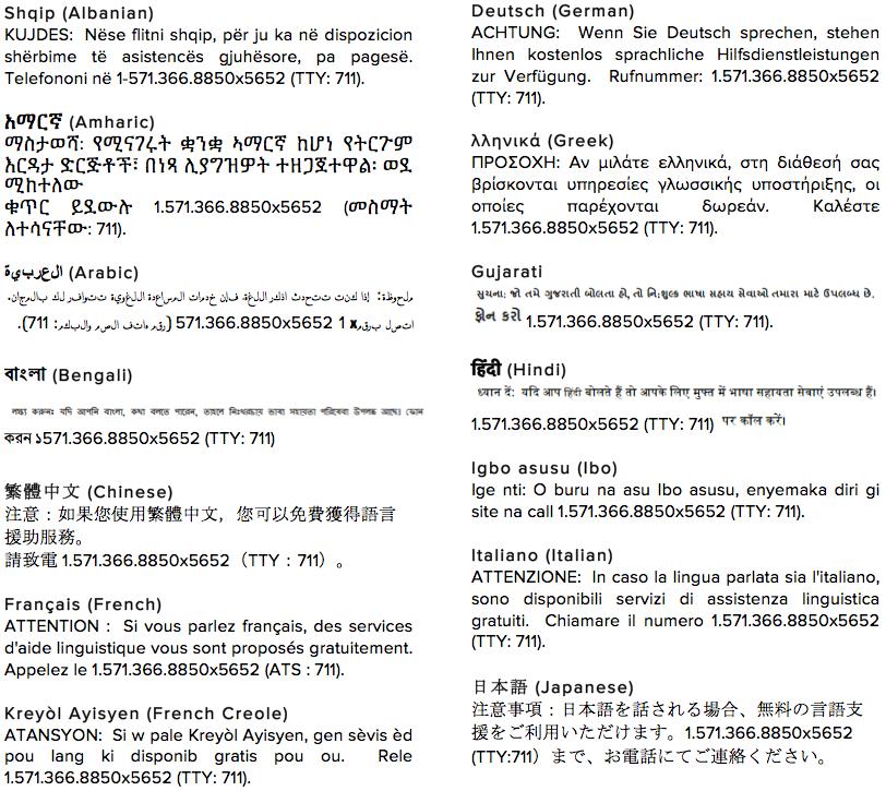 Nondiscrimination Languages Page 1