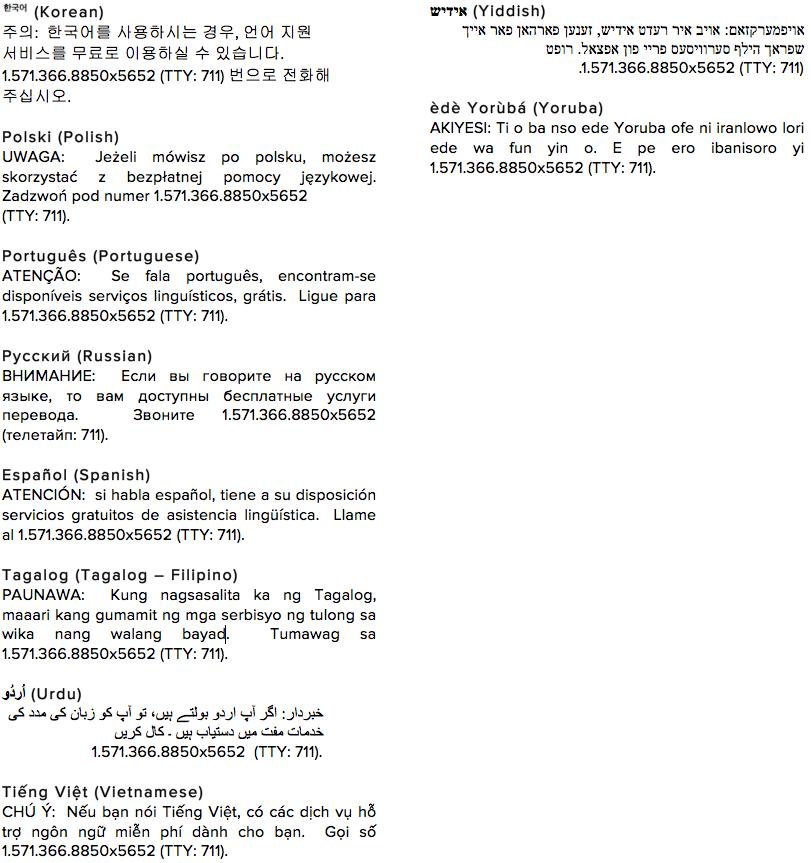 Nondiscrimination Languages Page 2